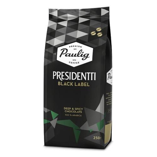 Кофе зерновой PAULIG Presidentti Black Label, 250 гр [16751] кофе зерновой paulig presidentti original легкая обжарка 1000 гр [17649]