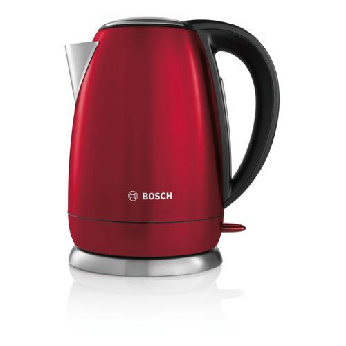 Чайник электрический BOSCH TWK78A04, 2200Вт, красный чайники электрические bosch чайник bosch twk7801 1 7л 2200вт