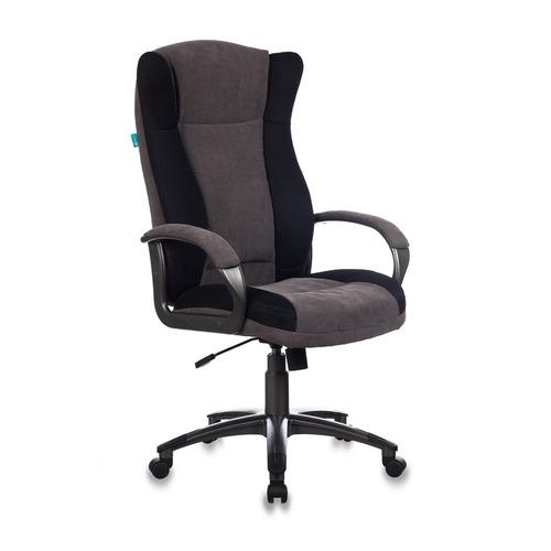 Кресло руководителя БЮРОКРАТ CH-879N, на колесиках, ткань, кофейный [ch-879n/dg/f-c]