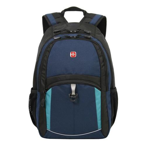 Рюкзак Wenger 3191203408 синий/черный/бирюзовый 33x45x15см 22л. 0.72кг. цена и фото