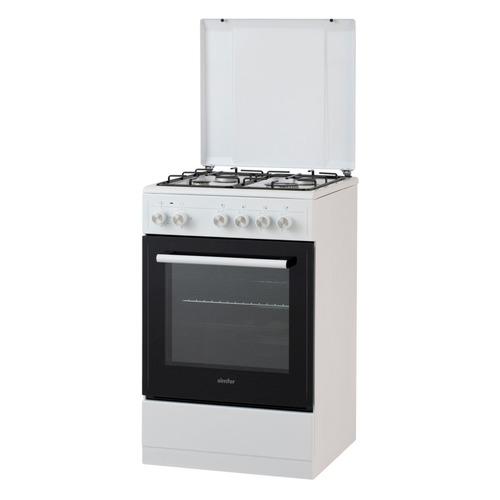 Газовая плита SIMFER F55EW43017, электрическая духовка, белый