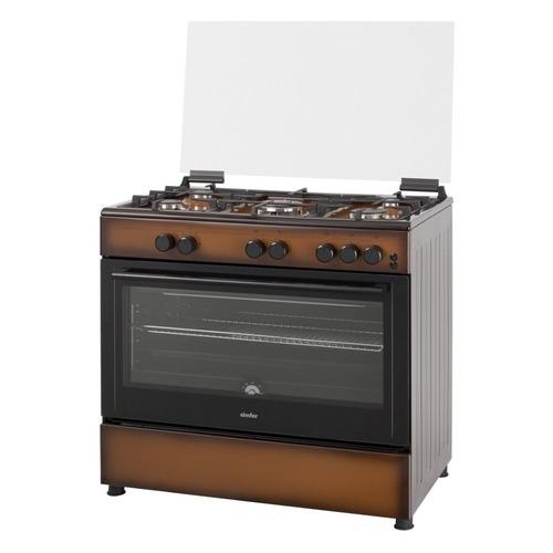 лучшая цена Газовая плита SIMFER F96GD52001, газовая духовка, стеклянная крышка, коричневый и черный