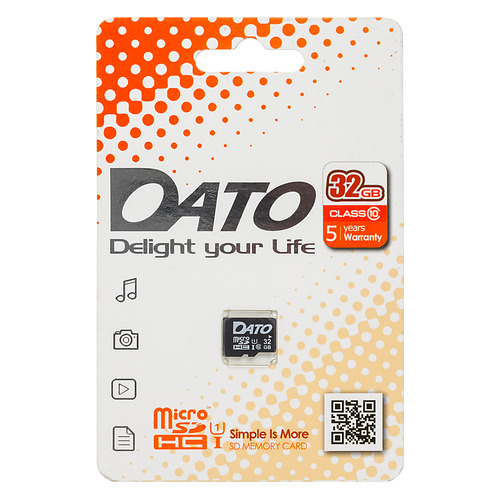 Фото - Карта памяти microSDHC UHS-I DATO 32 ГБ, 80 МБ/с, Class 10, DTTF032GUIC10, 1 шт. карта памяти microsdhc uhs i u1 dato 16 гб 40 мб с class 10 dttf016guic10 1 шт