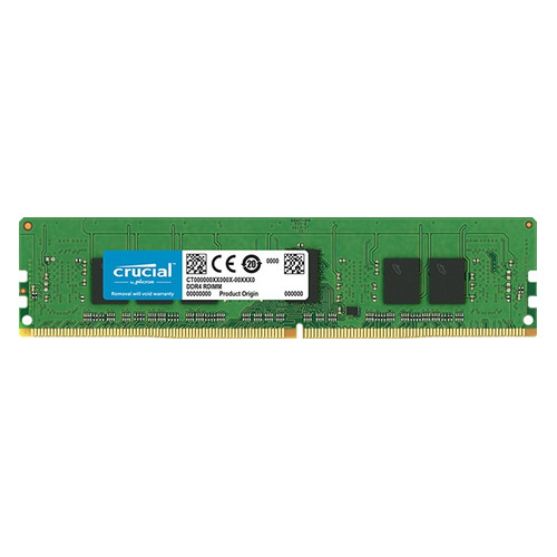 лучшая цена Память DDR4 Crucial CT4G4RFS8266 4Gb RDIMM ECC Reg PC4-21300 CL19 2666MHz