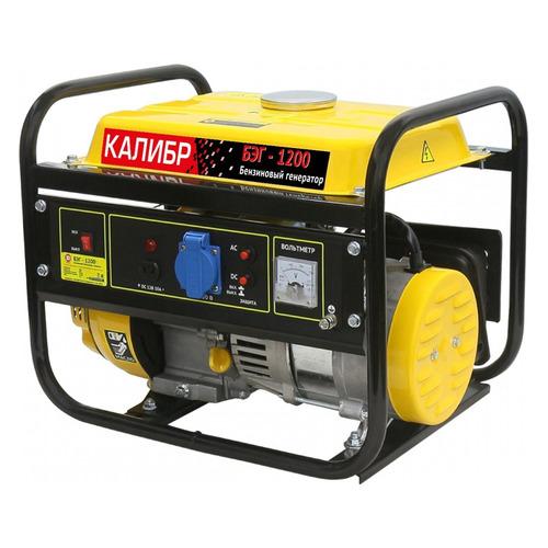 Бензиновый генератор КАЛИБР БЭГ-1200, 220 В, 1.2кВт [030102] цена