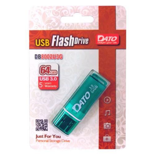 Фото - Флешка USB DATO DB8002U3 64ГБ, USB3.0, зеленый [db8002u3g-64g] обучающий набор 6в1 чтение счет пони 03631