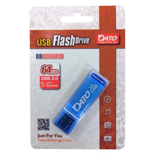 Фото - Флешка USB DATO DB8002U3 64ГБ, USB3.0, синий [db8002u3b-64g] флешка usb dato ds7012 64гб usb2 0 черный [ds7012k 64g]