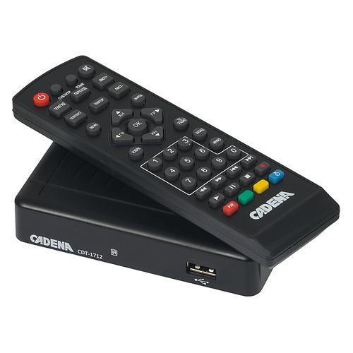 Ресивер DVB-T2 CADENA CDT-1712, черный [046/91/00047719] ресивер dvb t2 d color dc902hd