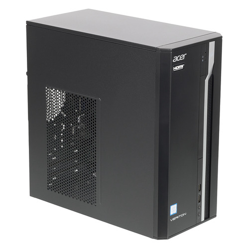 Компьютер ACER Veriton ES2710G, Intel Core i3 6100, DDR4 4Гб, 1000Гб, Intel HD Graphics 530, Free DOS, черный [dt.vqeer.073] компьютер iru office 311 intel core i3 6100 ddr4 4гб 120гб ssd intel hd graphics 530 dvd rw free dos черный [427363]