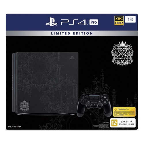 Игровая консоль SONY PlayStation 4 Pro с 1 ТБ памяти, игрой Kingdom Hearts III, CUH-7208B, черный игровая консоль sony playstation 4 500gb slim cuh 2208a horizon zero dawn gran tourismo uncharted 4 ps plus 3 месяца