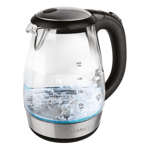 Чайник электрический SCARLETT SC-EK27G56, 2200Вт, черный цена и фото