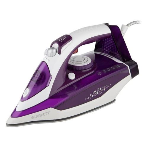 цена Утюг SCARLETT SC-SI30K34, 2200Вт, фиолетовый онлайн в 2017 году