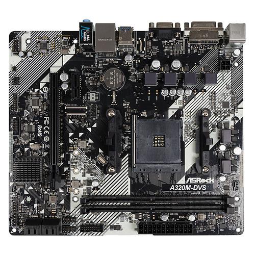 Материнская плата ASROCK A320M-DVS R4.0, SocketAM4, AMD A320, mATX, Ret A320M-DVS R4.0 по цене 3 990