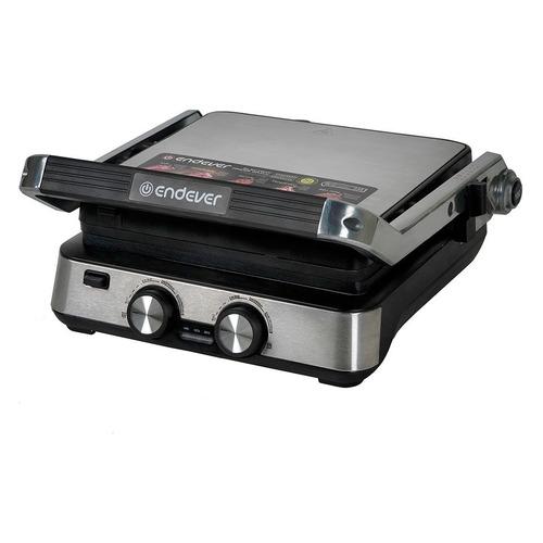 Электрогриль ENDEVER Grillmaster 235, черный и серебристый [80574] цена и фото