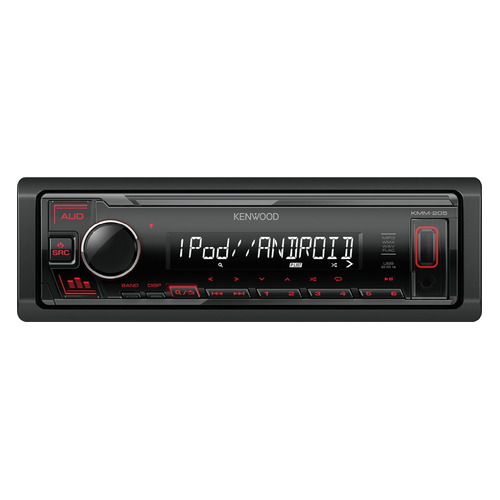 Автомагнитола KENWOOD KMM-205, USB автомагнитола kenwood dmx7018bts usb