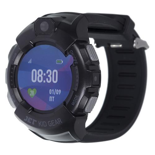 Смарт-часы JET Kid Gear, 50мм, 1.44, черный / серый [gear grey+black] jet kid gear red black