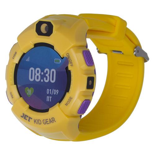 Смарт-часы JET Kid Gear, 50мм, 1.44, фиолетовый / желтый [gear yellow+purple] цена