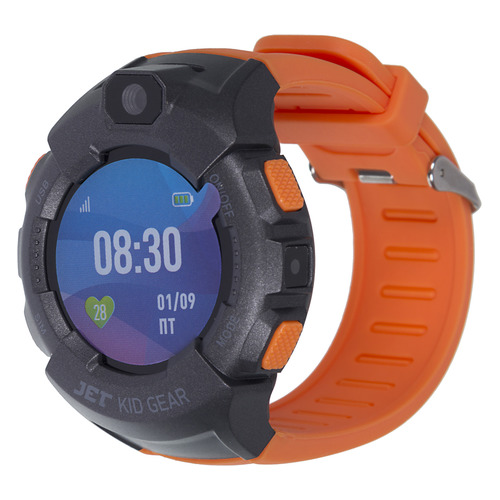 Смарт-часы JET Kid Gear, 50мм, 1.44, серый / оранжевый [gear orange+grey] цена