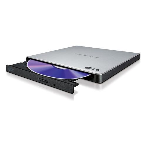 Оптический привод DVD-RW LG GP57ES40, внешний, USB, серебристый, OEM