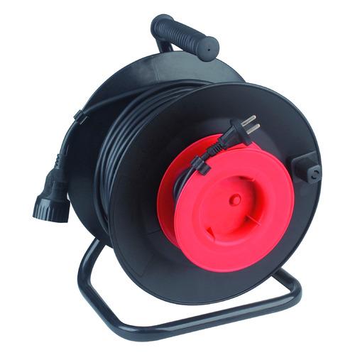 Удлинитель силовой Эра RP-1-2x0.75-30m (Б0001677) 2x0.75кв.мм 1розет. 30м ПВС 6A катушка черный эра rp 4 2x1 0 30m катушка без заземления