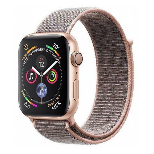 цена Смарт-часы APPLE Watch Series 4 40мм, золотистый / розовый [mu692/a] онлайн в 2017 году