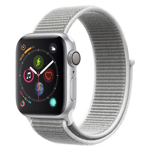 Смарт-часы APPLE Watch Series 4 40мм, серебристый / белый [mu652/a] помада maybelline new york maybelline new york ma010lwjkz83