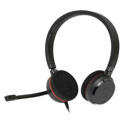 Гарнитура JABRA Evolve 20 MS Stereo, для контактных центров, накладные, черный [4999-823-109] цена и фото