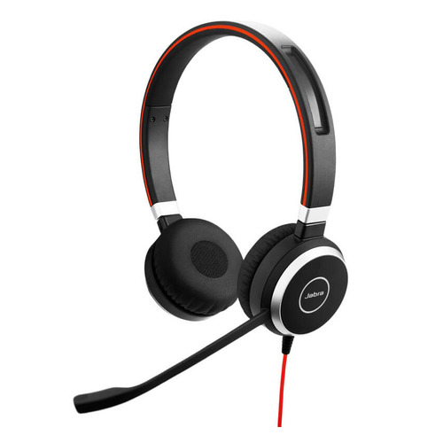 Гарнитура JABRA Evolve 40 MS, для контактных центров, накладные, черный [6399-823-109] гарнитура plantronics pl hw710 для контактных центров накладные черный