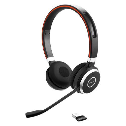 Гарнитура JABRA Evolve 65 MS, для контактных центров, накладные, bluetooth, черный [6599-823-309] цена и фото