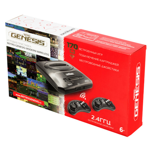 лучшая цена Игровая консоль RETRO GENESIS Modern Wireless 170 игр, черный