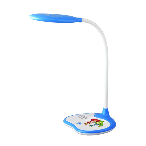 Фото - Светильник настольный ЭРА NLED-433-6W-BU Фиксики, на подставке, 6Вт, белый [б0028462] светильник настольный эра nled 459 9w bu на подставке 9вт белый [б0028459]