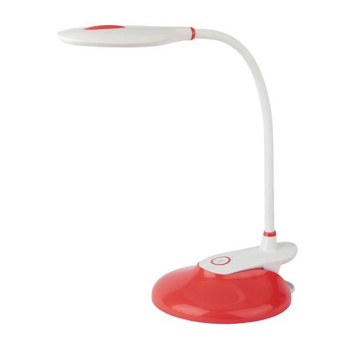 Фото - Светильник настольный ЭРА NLED-459-9W-R, на подставке, 9Вт, белый [б0028460] светильник настольный эра nled 459 9w bu на подставке 9вт белый [б0028459]