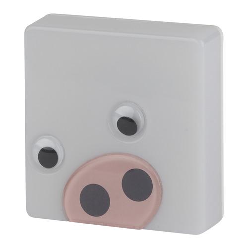 Ночник Эра NN-631-LS-P Хрюша пластик белый NN-631-LS-P Хрюша по цене 360