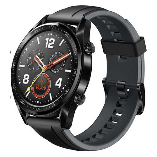 Смарт-часы Huawei Watch GT Sport FTN-B19, 46.5мм, 1.4, черный / серый [55023251] умные часы huawei watch gt ftn b19 black