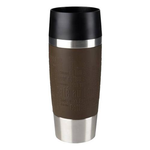 Термос EMSA Soft Grip 514500, 1.5л, стальной/ фиолетовый EMSA
