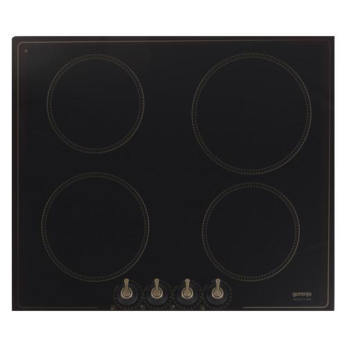 Индукционная варочная панель GORENJE IK640CLB, индукционная, независимая, черный цена и фото