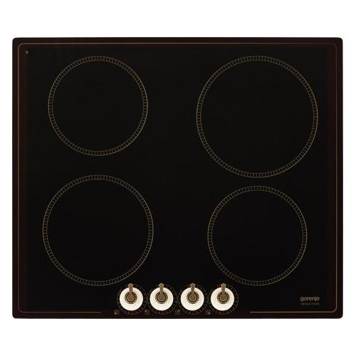 Индукционная варочная панель GORENJE IK640CLI, индукционная, независимая, черный цена и фото