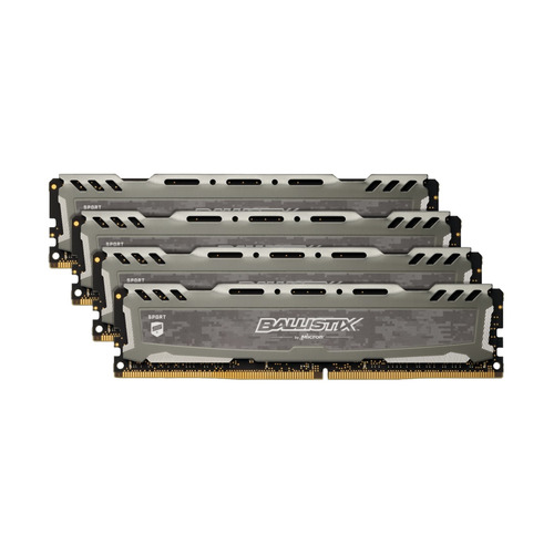 Модуль памяти CRUCIAL Ballistix Sport LT Red BLS4K16G4D32AESE DDR4 - 4x 16Гб 3200, DIMM, Ret CRUCIAL
