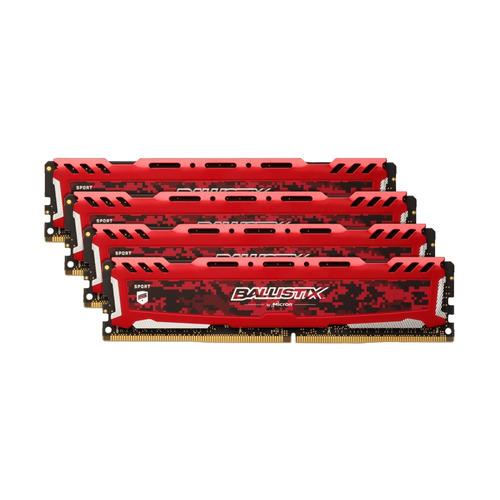 Модуль памяти CRUCIAL Ballistix Sport LT Red BLS4K4G4D26BFSE DDR4 - 4x 4Гб 2666, DIMM, Ret CRUCIAL