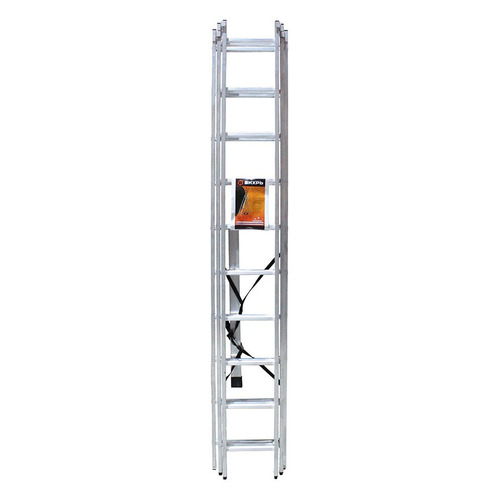 Лестница Вихрь ЛА 3х10 алюминий 10ступ. H6.31м макс.нагр.:150кг (73/5/1/17) лестница алюминиевая складная вихрь 73 5 1 17