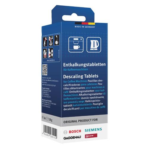 Очищающие таблетки BOSCH 00311864, для кофемашин, 18грамм, 6 шт