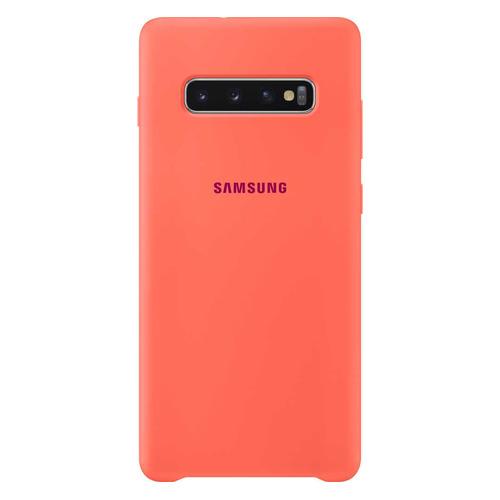 Чехол (клип-кейс) SAMSUNG Silicone Cover, для Samsung Galaxy S10+, розовый [ef-pg975thegru] цена в Москве и Питере
