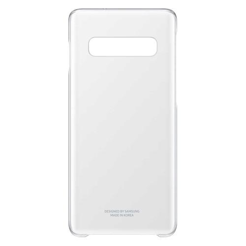 Чехол (клип-кейс) SAMSUNG Clear Cover, для Samsung Galaxy S10, прозрачный [ef-qg973ctegru]  - купить со скидкой