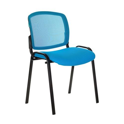 Кресло БЮРОКРАТ CH W696, на колесиках, сетка/ткань, голубой [ch w696 lb] БЮРОКРАТ