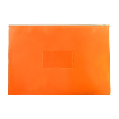 Папка на молнии ZIP Бюрократ Double Neon DNEBPM4AOR A4+ полипропилен 0.15мм оранжевый карм.для визит 12 шт./кор. папка на молнии zip бюрократ bpm4ared a4 полипропилен 0 15мм карм для визит цвет молнии красный 12 шт кор
