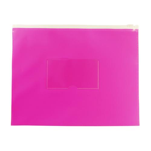 Папка на молнии ZIP Бюрократ Double Neon DNEBPM5APINK A5 полипропилен 0.15мм розовый карм.для визит. 12 шт./кор. папка на молнии zip бюрократ bpm4ared a4 полипропилен 0 15мм карм для визит цвет молнии красный 12 шт кор