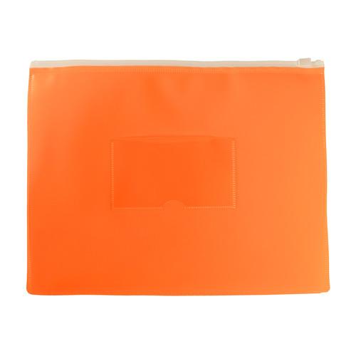 Папка на молнии ZIP Бюрократ Double Neon DNEBPM5AOR A5 полипропилен 0.15мм оранжевый карм.для визит. 12 шт./кор. папка на молнии zip бюрократ bpm4ared a4 полипропилен 0 15мм карм для визит цвет молнии красный 12 шт кор