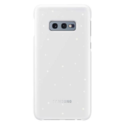 Чехол (клип-кейс) SAMSUNG LED Cover, для Samsung Galaxy S10e, белый [ef-kg970cwegru] samsung сенсорный