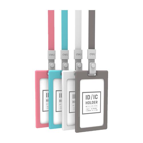 Упаковка бейджей для пропуска DELI 8337RED, 54х90мм, вертикальный, силикон, красный 6 шт./кор. упаковка бейджей для пропуска deli 8306white 60х98мм вертикальный полипропилен белый 40 шт кор
