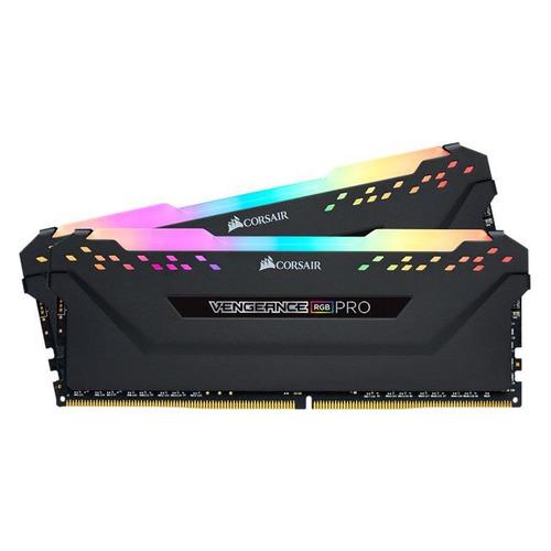 Модуль памяти CORSAIR Vengeance RGB Pro CMW32GX4M2C3466C16 DDR4 - 2x 16Гб 3466, DIMM, Ret модуль памяти corsair vengeance lpx cmk16gx4m2b3466c16 ddr4 2x 8гб 3466 dimm ret
